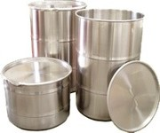 stainless steel drums ,  plastic drums ,  bottles ,  containers ,  pails