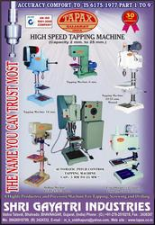 presision types of tapping & drilling machines