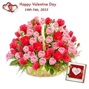 Send Valentine Flowers to India,  Valentine Flowers Delivery in India