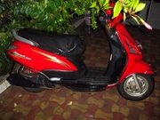 Suzuki Swish 125 (tomato red, yellow graphics), ran only 5, 900 kms