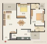 2 Bedroom Apartment / Flat for rent in Sargaasan,  Gandhinagar,  Gujarat