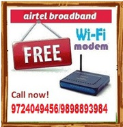 Airtel WiFi Broadband with Free Landline & Free Router (Ahmedabad)