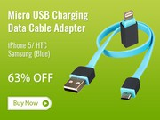 Deals on 2-In-1 Micro USB Charging Data Cable Adapter