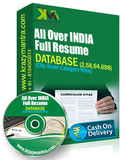 All Over India Full Resume Data Base Price 3000/-