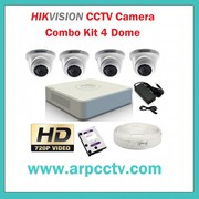 Combo kit of HIKVISION 4CH DVR available in Ahmedabad,  Gujarat