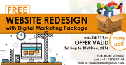 Website Redesign FREE with Digital Marketing Package of Rs.14, 999 only