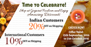 GujaratFood.com offers Amazing Shipping Discounts