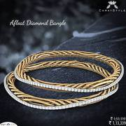 Buy Diamond Bangles in a Wide Range of Intricate Designs
