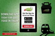 Order Food In Train With FudCheff App at Bharuch Junction