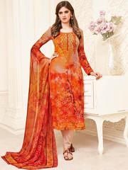 Buy Stylist Designer Straight Cut Salwar Suits