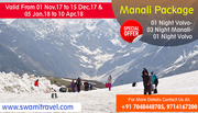 Cheapest Offer for Manali Holiday Tour Package by Swami Travel