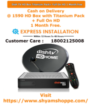 Dish TV HD Box Titanium Pack+ Full On HD 1 Month free