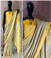 Designer Jute Cotton Silk Weaving Saree - Kalavat
