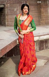Banarasi Silk Weaving Patola Wedding Wear with blousepiece at Kalavat