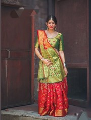 Patola Wedding Wear saree with blouse at Kalavat