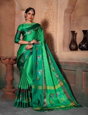 Designer Beautiful Poly Cotton Silk  Saree | Kalavat