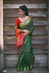 Banarasi Patola Saree with blouse piece| Kalavat