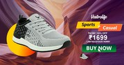 Vostro Sports Shoes,  Buy Verona Grey Black Sports Shoes for Men Online