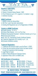 NSIC,  MSME,  IEM,  GEM Registration Consultancy Service