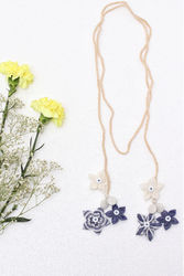 NeckPiece For Womens - Buy Blue Spring Blooming NeckPiece Online