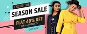 Flat 40% OFF on Womens Clothigs online - Avadhbyavanidhara