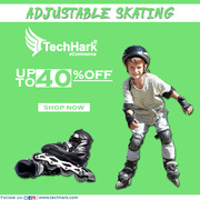 Techhark Quality PU-Alloy wheels Adjustable Skating | Skate Shoes