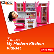 Cleos Kids Kitchen Play Set with Light & Sound Cooking Kitchen Set