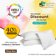 Get 40% OFF on All Pillows