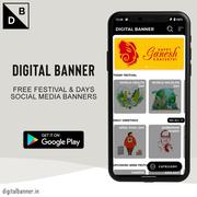 Digital Banner App: Business Marketing & Festival Images Videos Maker