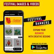 Digital Banner: Festival Images & Videos Maker App for Android