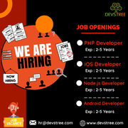 PHP,  iOS,  Node.js & Android Developers - Ahmedabad,  Gujarat